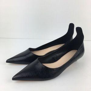 Zara Woman Black Pointed Kitten Heels